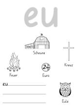 Arbeitsblatt zum Ausmalen eu | Kreativecke (Bastel-Ideen für die ...