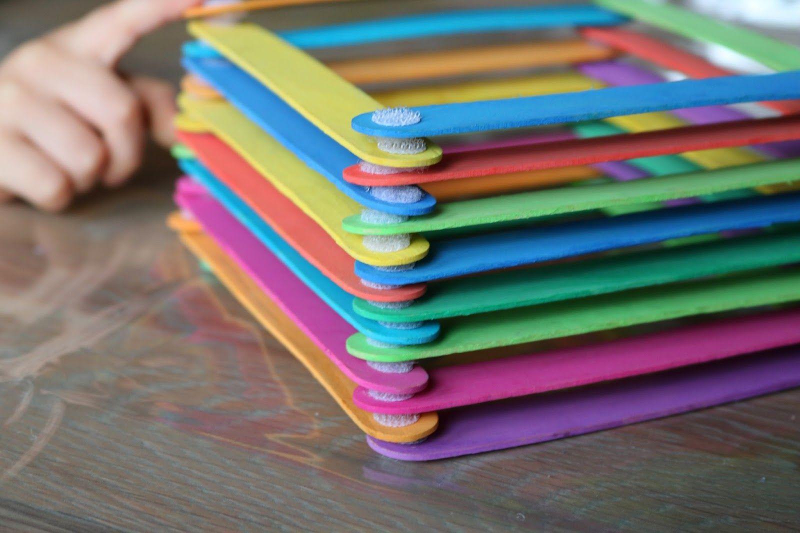 DIY, DIY für Kinder, Basteln mit Kindern, Basteln mit Eisstielen, Kinderbasteleien, Basteln für Kinder, Montessori DIY,
