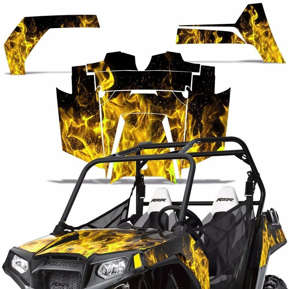 ebay advertisement rzr800 graphic kit polaris utv decal sticker sxs wrap rzr 800 parts 06 10 ice y [ 1000 x 1000 Pixel ]