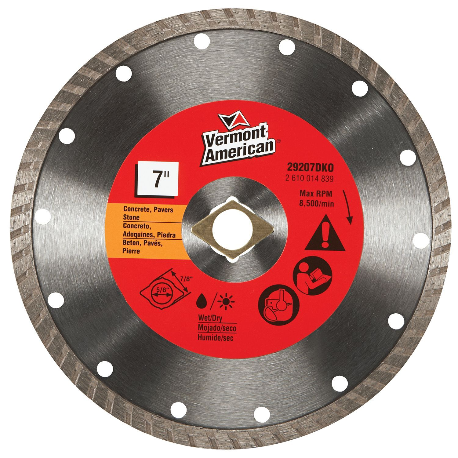 Vermont american 29207dko 7 diamond blade products pinterest vermont american 29207dko 7 diamond blade table saw greentooth Images