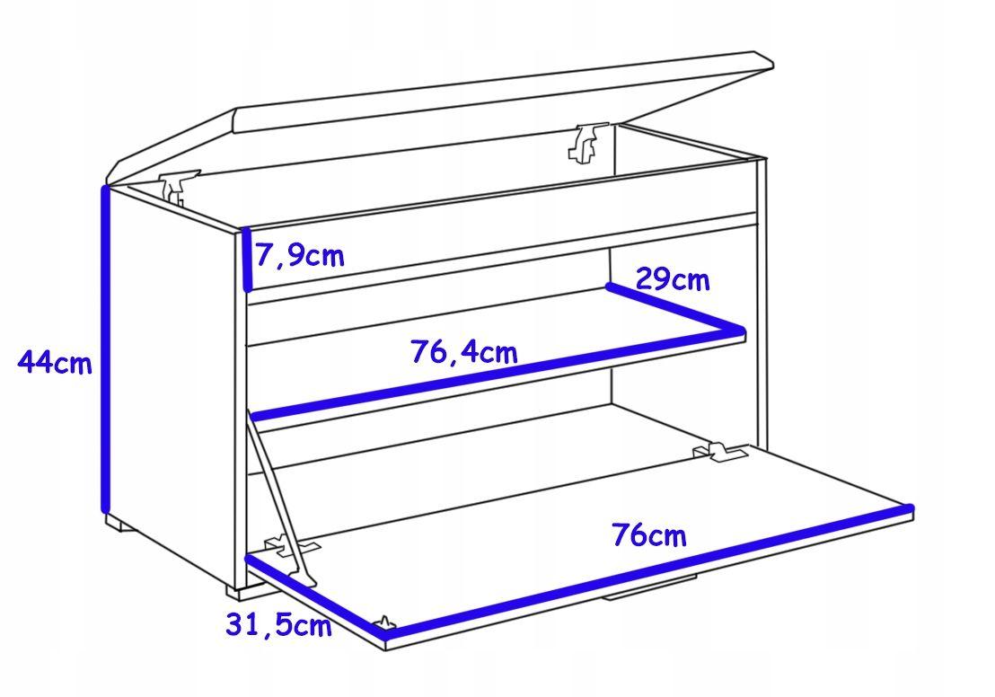 Polka Na Buty Fala 1 Szafka Truflowy Przedpokoj Furniture Storage Magazine Rack