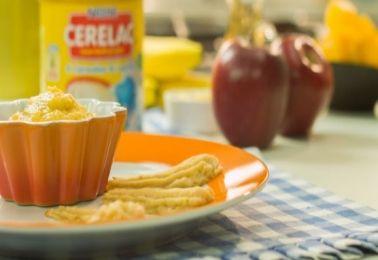 Ingredientes  2 tazas de agua hervida  4 cucharadas de leche condensada nestlé o leche condensada light nestlé  6 cucharadas rasas de cerelac  2 cucharadita rasas de gelatina sin sabor  Prep