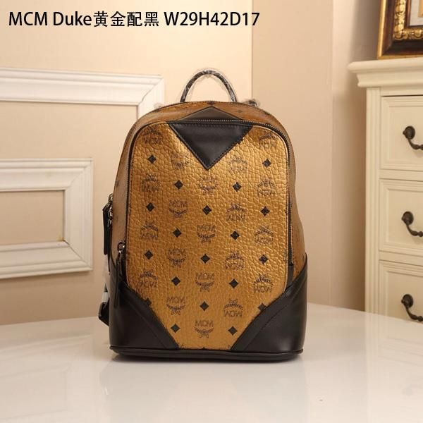 Mcm Bags Backpack 1 To Quality From Replica Size W29h42d17cm Leather Color Gold And Black Mcmbag 049