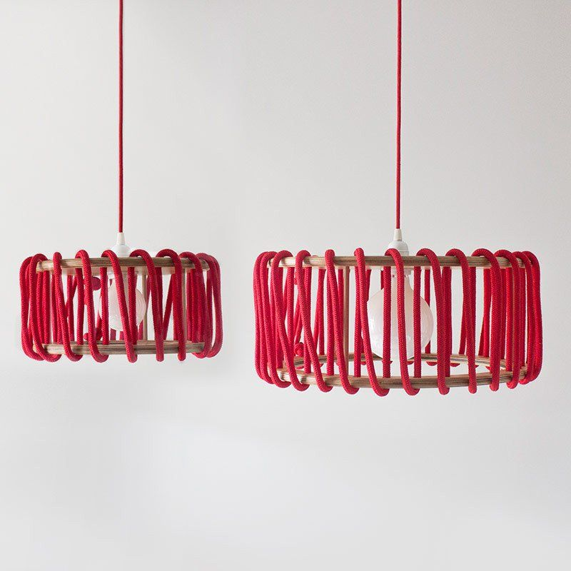Macaron Oak Lamp, Red -  - Lights - EMKO - Space & Shape - 6