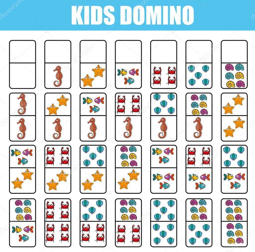 Domino Para Criancas Jogo Educacional De Criancas Atividade Para Impressao Jogo De Em 2020 Jogos De Cartas Para Criancas Jogos Educativos Estrategias De Matematica