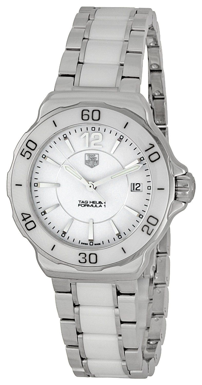 TAG Heuer Women's WAH1211.BA0861 Formula One White Dial Watch, (aquaracer, watches, ladies tag watch, luxury)