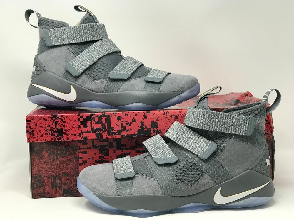 867c9cb8209 NIKE LEBRON SOLDIER XI COOL GREY PURE PLATINUM 897644 010 ATHLETIC ...