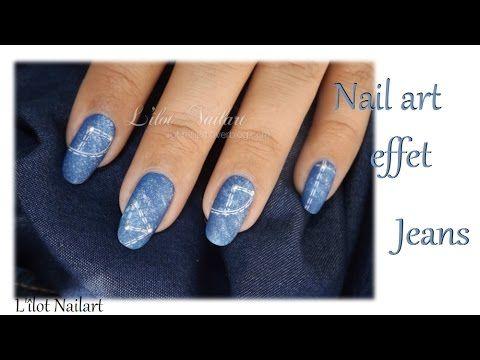 Tuto Nail Art Effet Jeans Jean Nails Pinterest