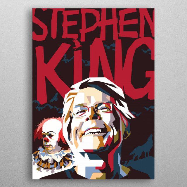 Stephen King in WPAP Art by difrats artwork | metal posters - Displate | Displate thumbnail