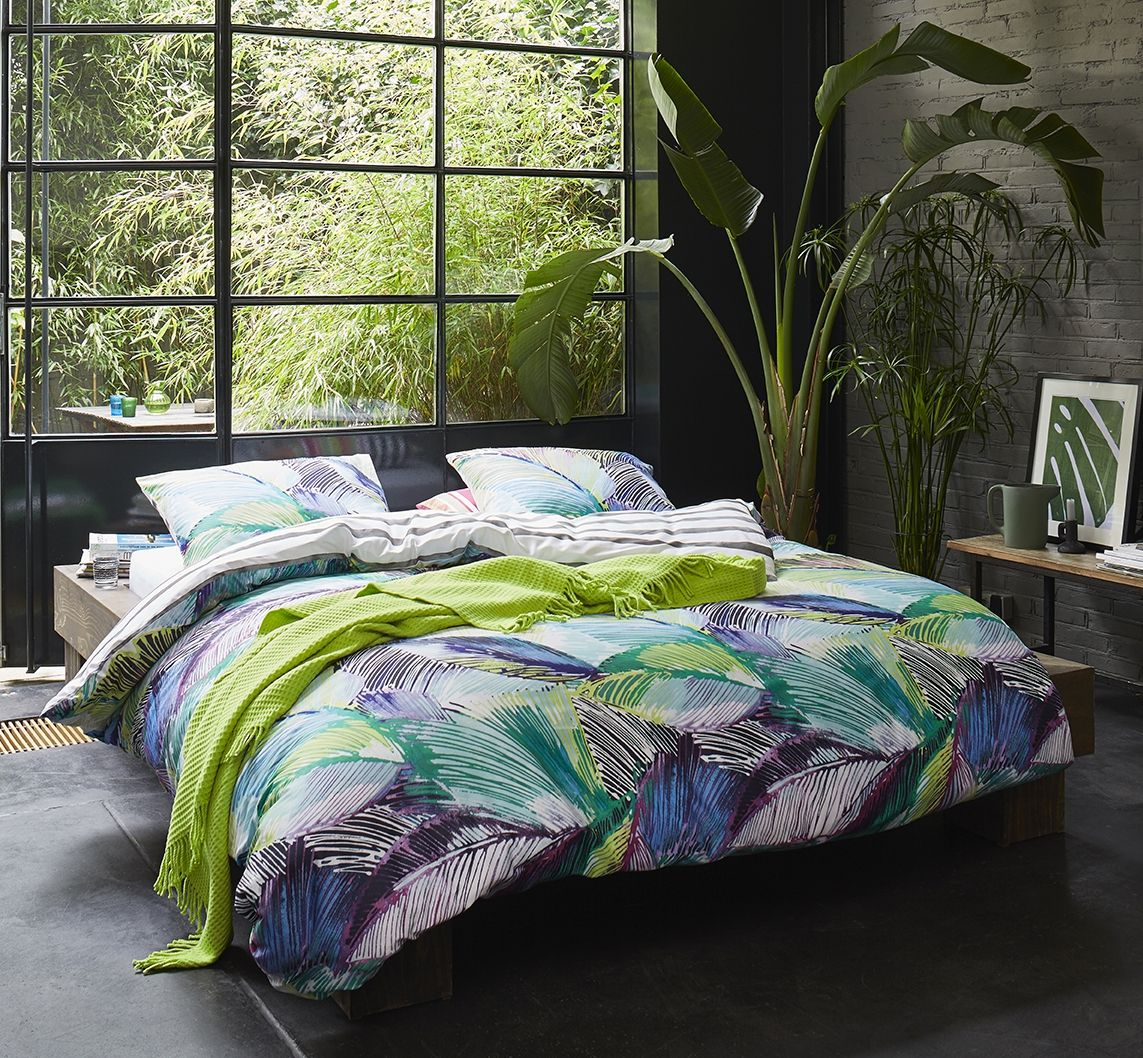 linge de lit esprit palmia green nouvelle collection. Black Bedroom Furniture Sets. Home Design Ideas
