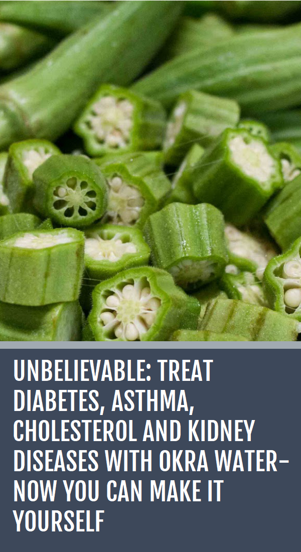 Unbelievable Treat Diabetes Asthma Cholesterol And Kidney Diseases With Okra Water Now You Can Make It Yourself Okra Water Kidney Disease Diabetes