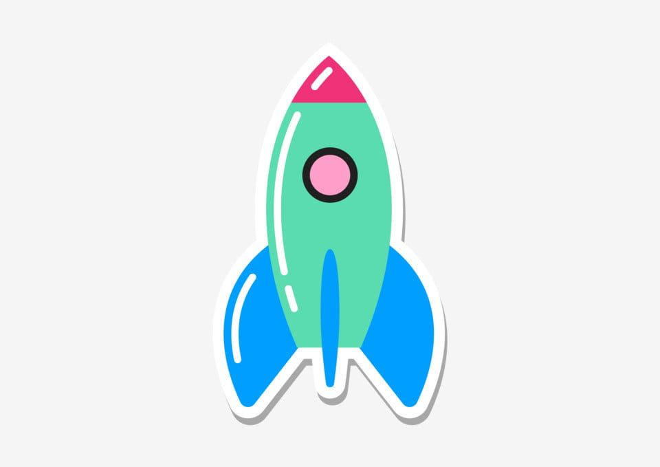 Pop Art Eighties Patch Sticker Rocket Sticker Rocket Icon Png And Vector With Transparent Background For Free Download Pop Art Cloud Stickers Cartoon Stickers