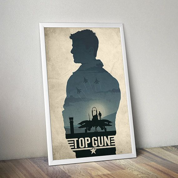 A3 Top Gun Tom Cruise Vintage Movie Poster A4 sizes A2 A1