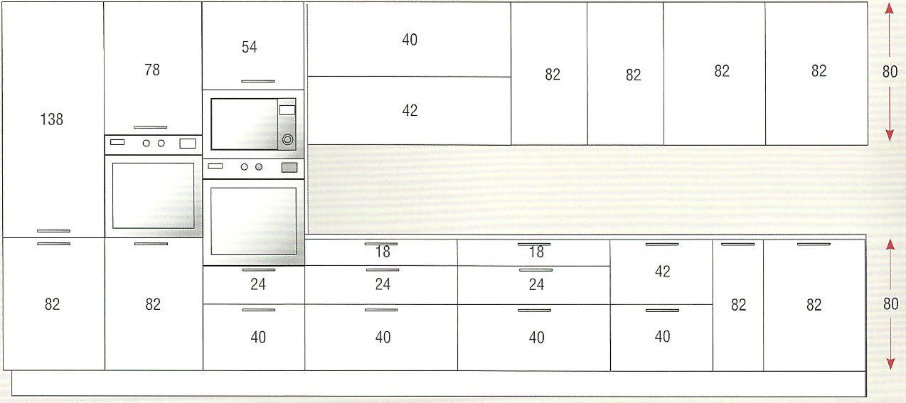 Resultado de imagen para altura de mueble alto en cocina dise o arq estructuras - Altura muebles cocina ...