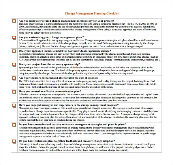 Organizational Change Management Plan Template Organizational Change