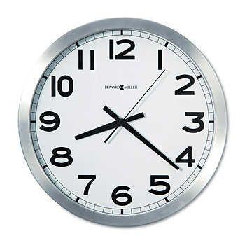Howard Miller 15 3 4 Round Wall Clock In 2020 Wall Clock Analog Howard Miller Wall Clock Wall Clock Modern
