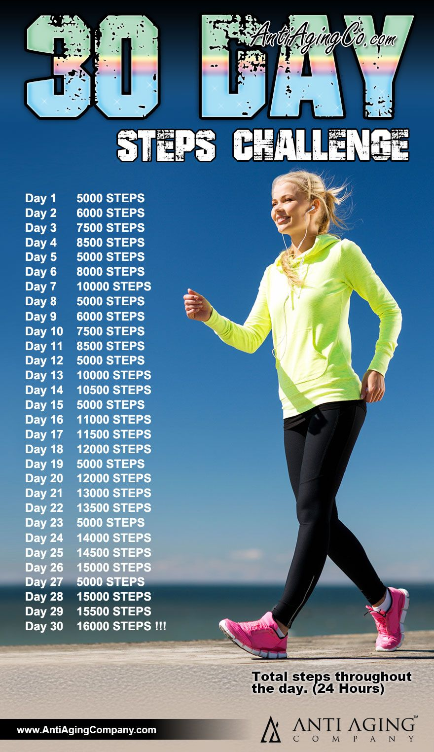 30 day steps challenge workout challenge exercise