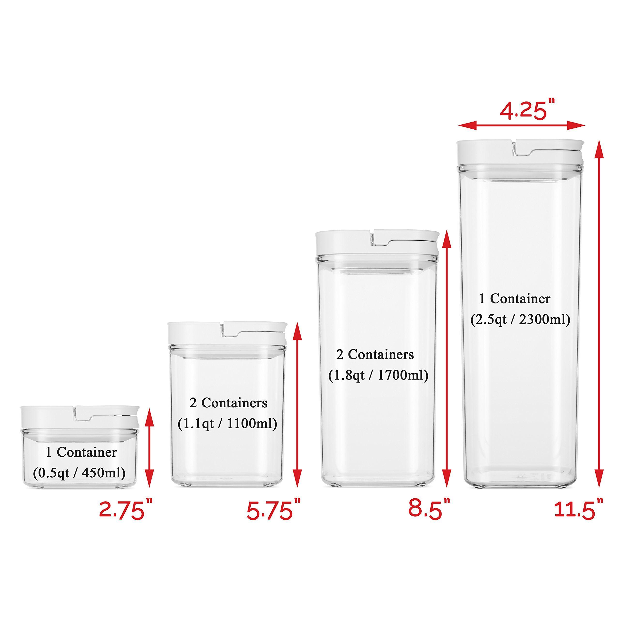 Durahome Fliplock Airtight Food Storage Containers 6 Piece Set