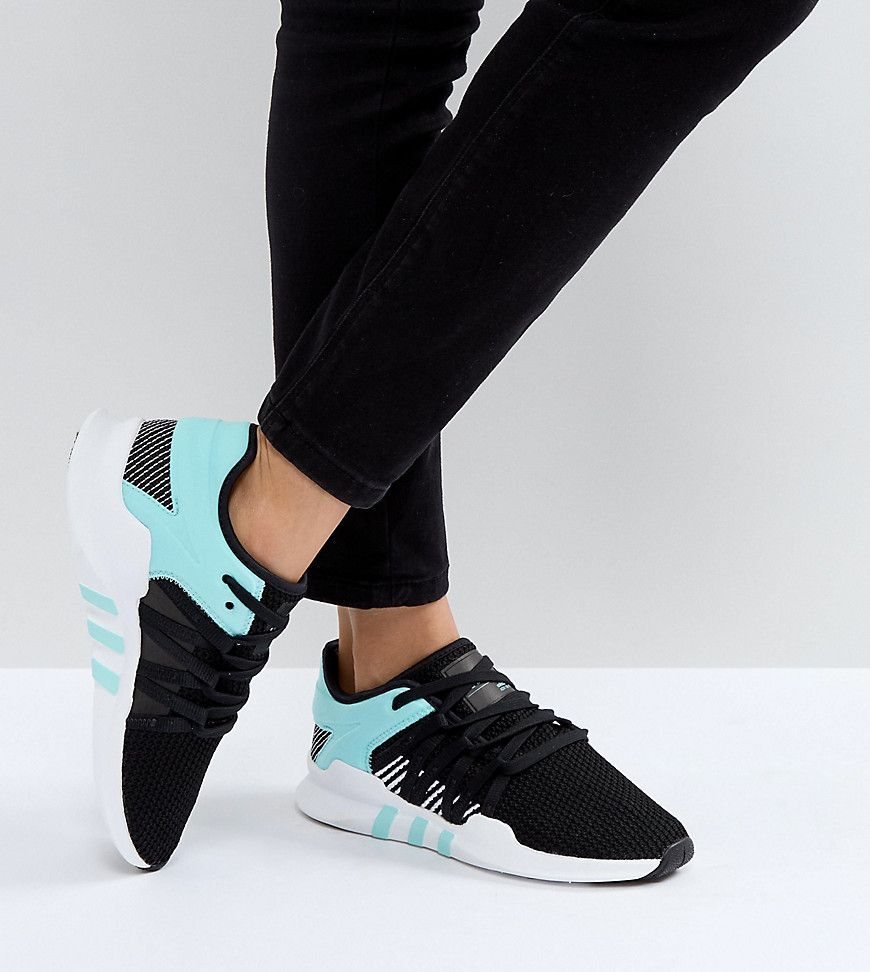 c4a3651dd1b7 adidas Originals EQT Racing Adv Sneakers In Black And Mint - Black ...