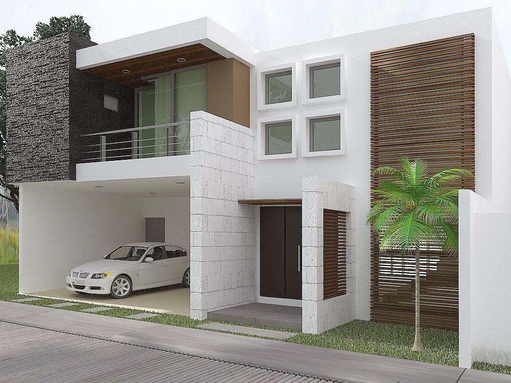 Hermosa casa con fachada contempor nea en residencial for Casas modernas con interiores contemporaneos