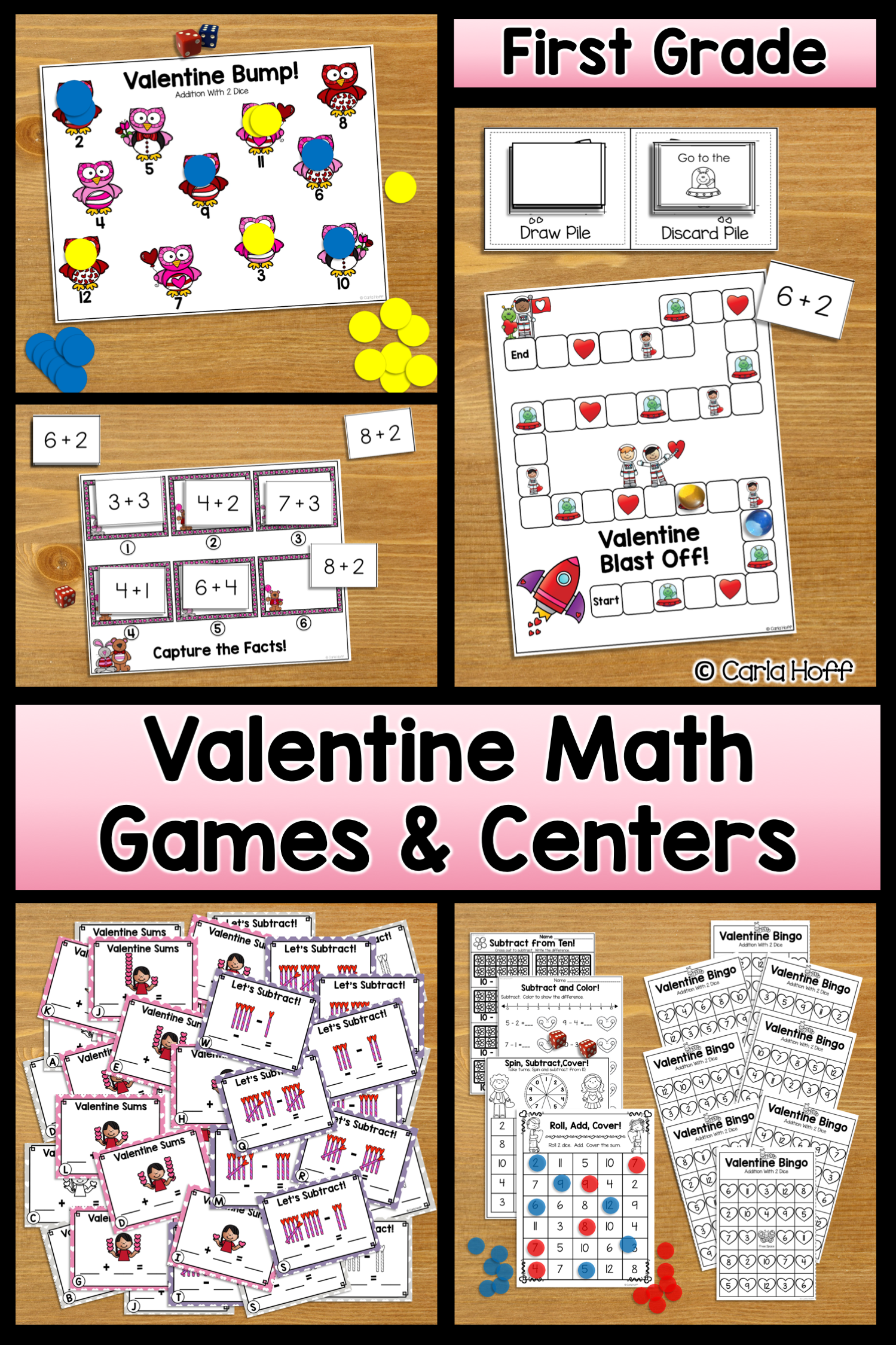 Valentine Math Addition Amp Subtraction Games Within 12