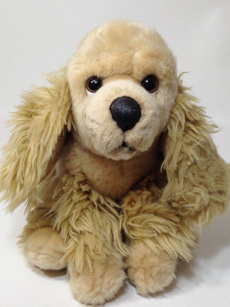 Animal Alley Cocker Spaniel Plush Puppy Dog Brown Stuffed Animal