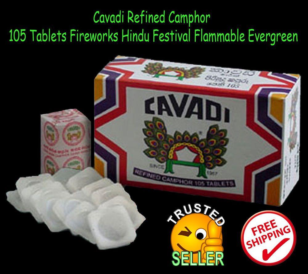 Cavadi Refined Camphor 105 Tablets Fireworks Hindu Festival