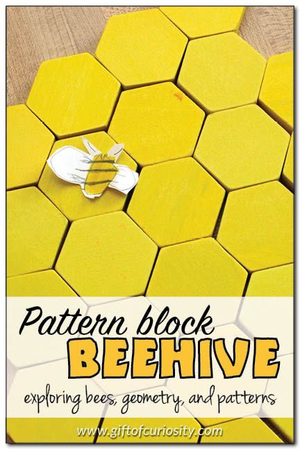 Make A Beehive Model From Pattern Blocks | Pattern Blocks, Beehive