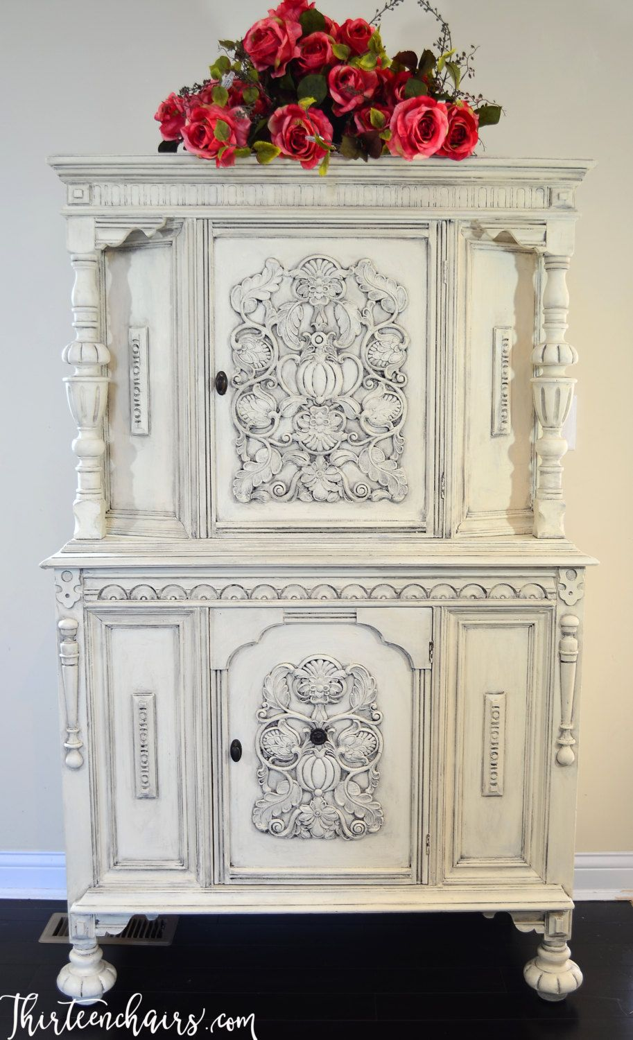 Court/Press/Cottage Cupboard Painted with Annie Sloan Old White ...
