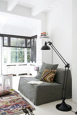 rug, lamp, cushion, stool