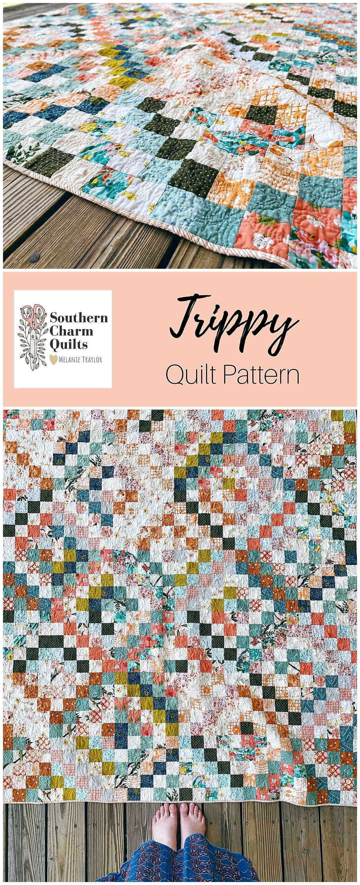 Trippy Quilt Pattern In 2020 Quilt Patterns Quilts Traditional Quilt Patterns