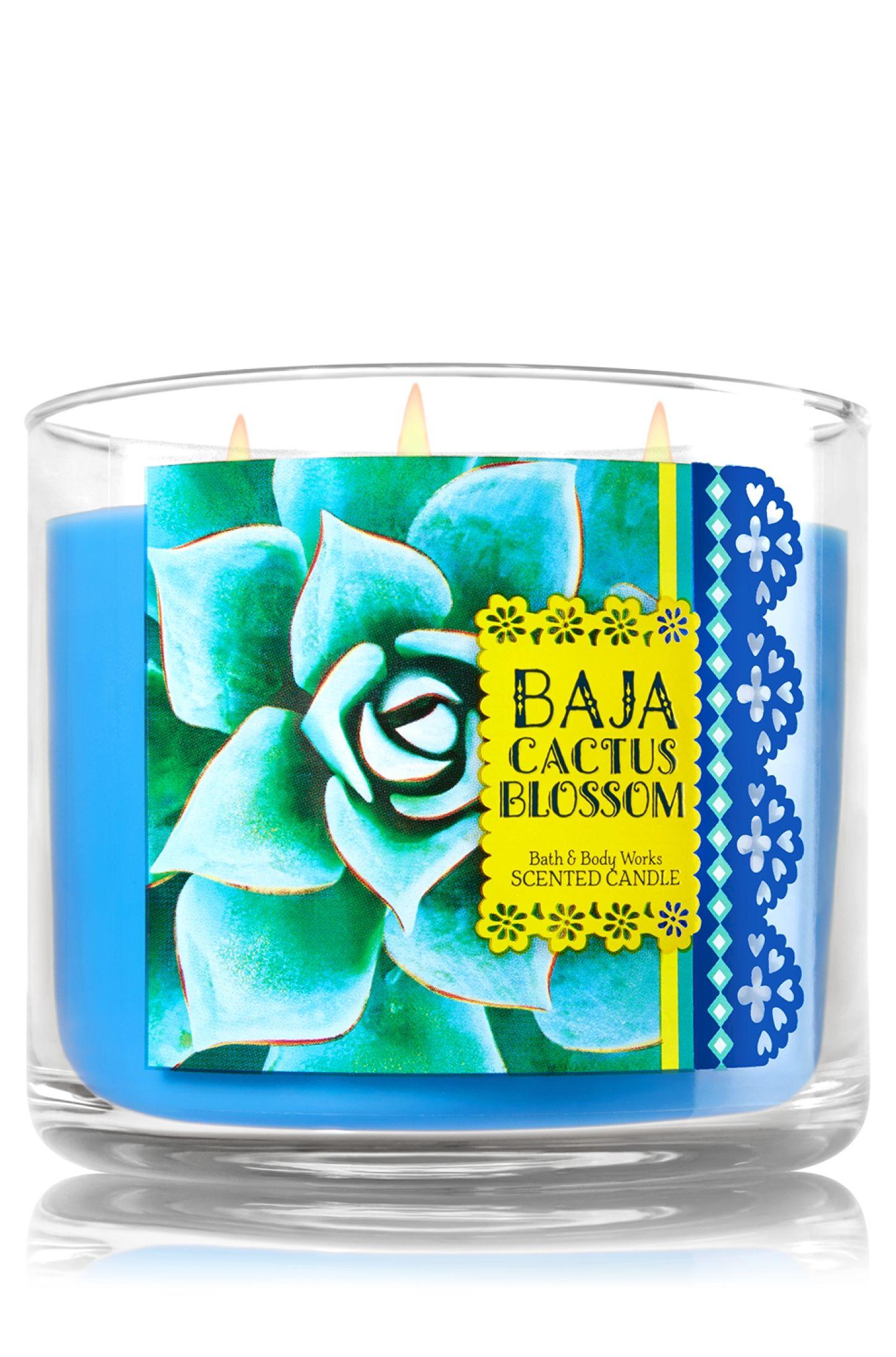 Baja Cactus Blossom 3-Wick Candle - Home Fragrance 1037181 - Bath ...