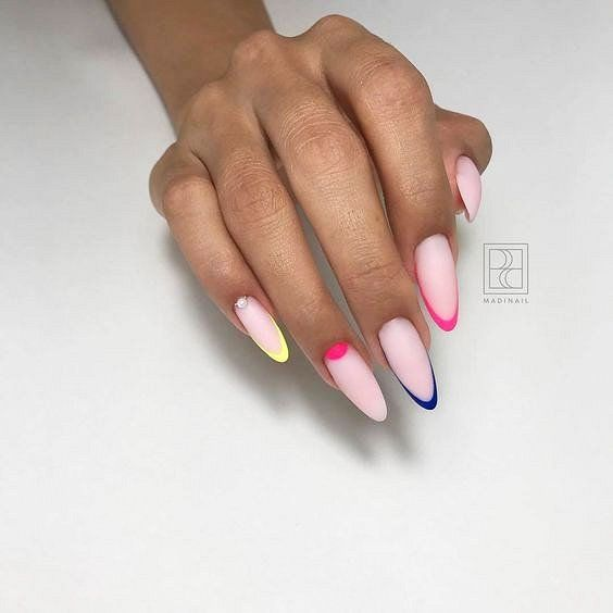 17 Long And Short French Tip Acrylic Nails Nails With Glitter 2020 French Tip Acrylic Nails Trendy Nails French Nails