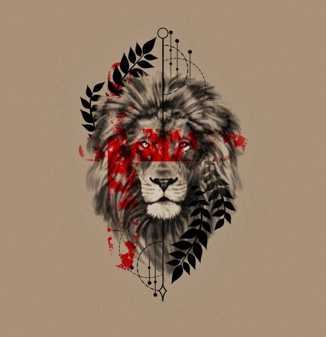 a51a2db5c0ad0 Trash polka geometric lion head tattoo idea. You can follow the link and  order custom tattoo design by me