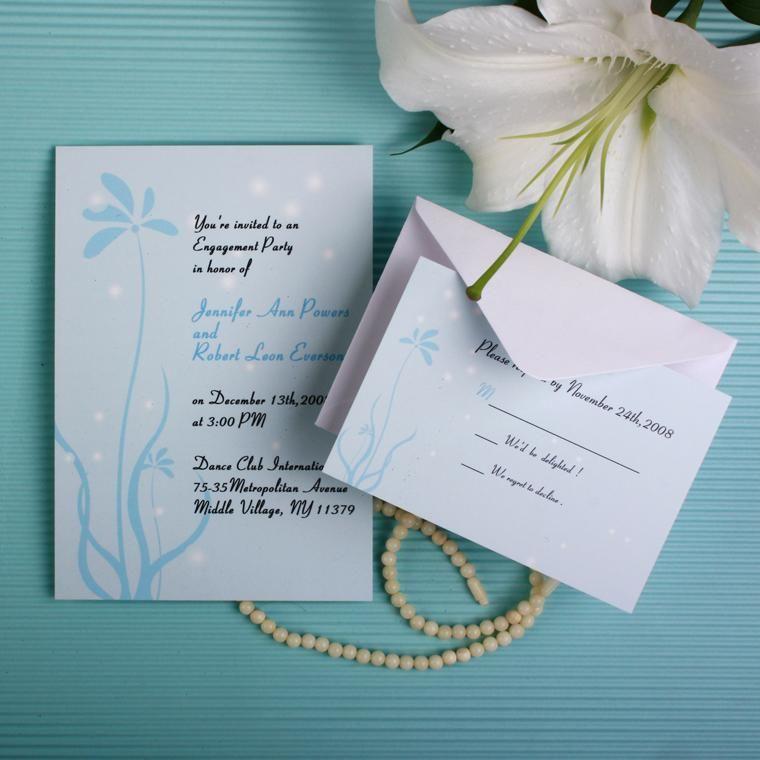 shining sky wedding invitations