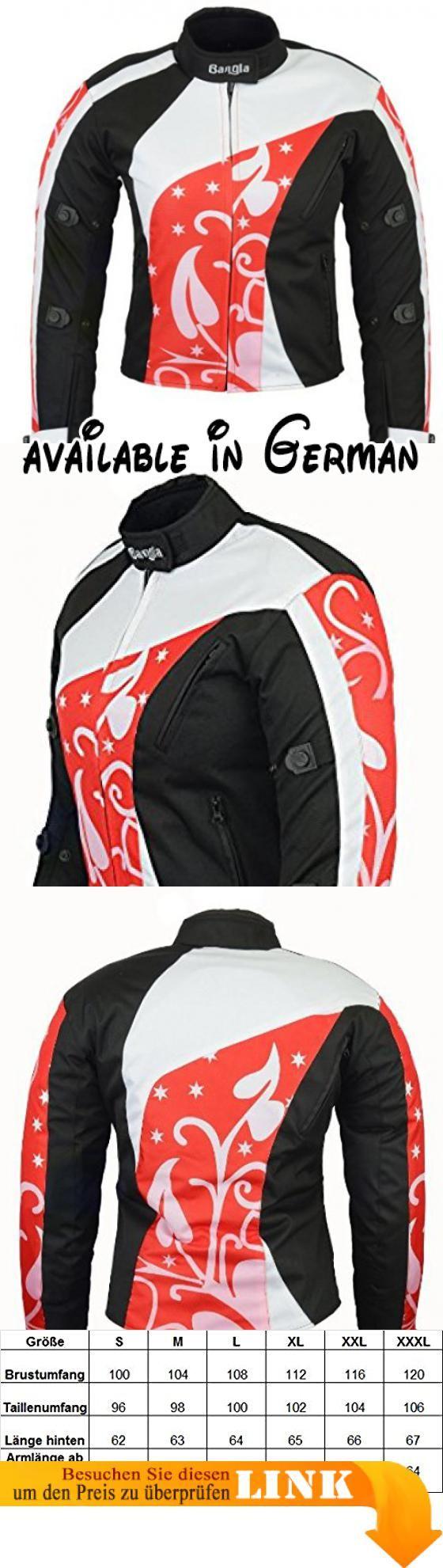 B-07 Bangla Damen Motorrad Jacke Textil Cordura600 rot gemustert ...