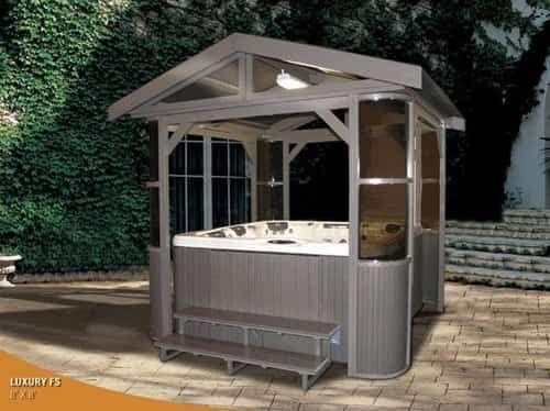 10 Hot Tub Enclosure Winter Ideas That You Have To Build At Home Hot Tub Gazebo Tub Enclosures Hot Tub Backyard