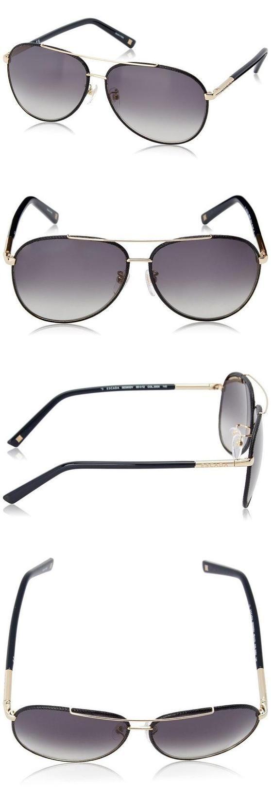90cc8f0bc0f  325 - Escada Sunglasses Women s SES832V-300X Aviator Sunglasses ...