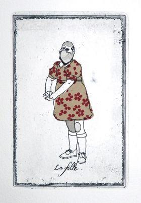 Gravures & Estampes | Jeanne Picq | La fille | Tirage d'art en série limitée sur L'oeil ouvert