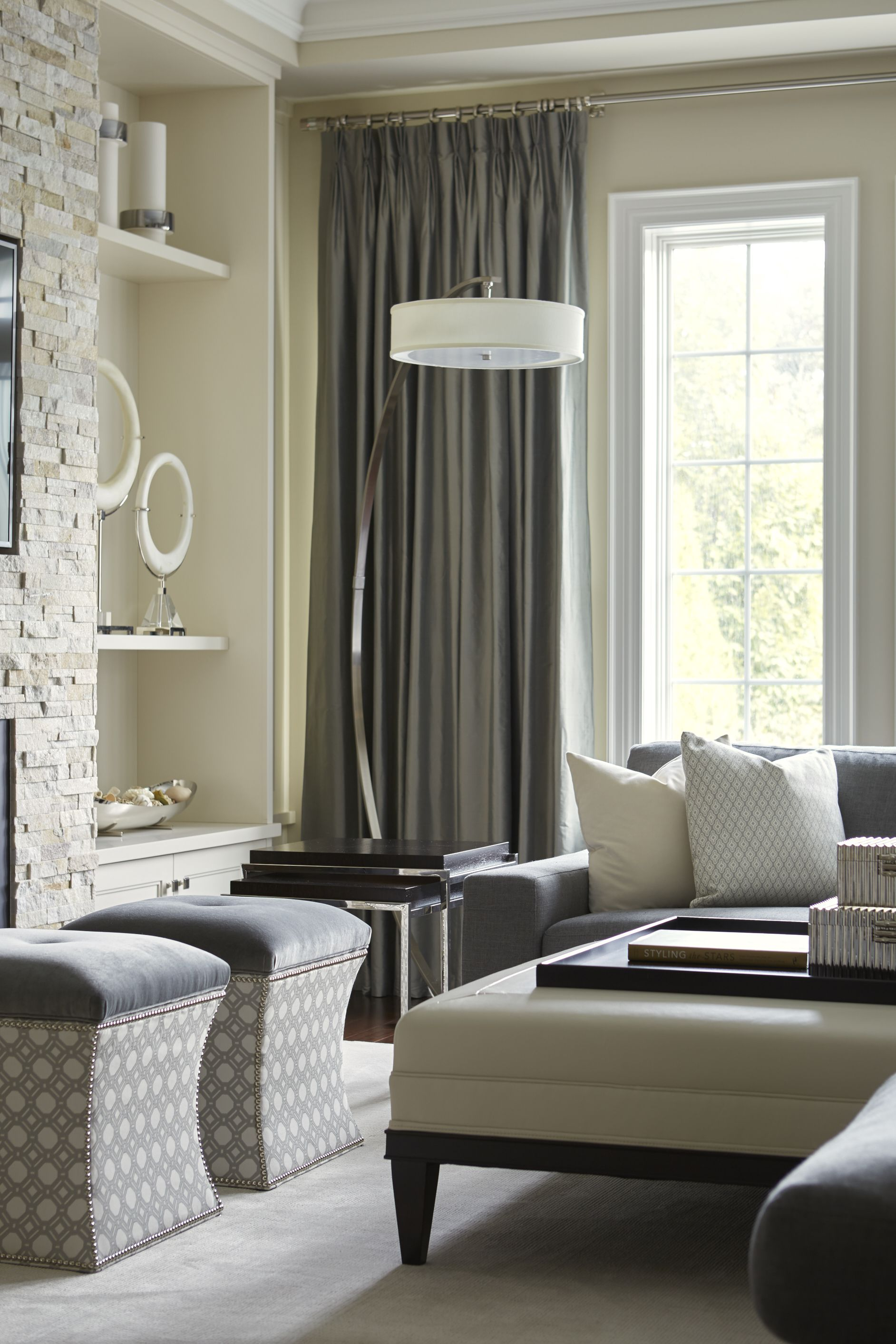 A Transitional Style Great Room By Parkyn Design Www Parkyndesign Com: Interior Design, Interior, Monochromatic Room