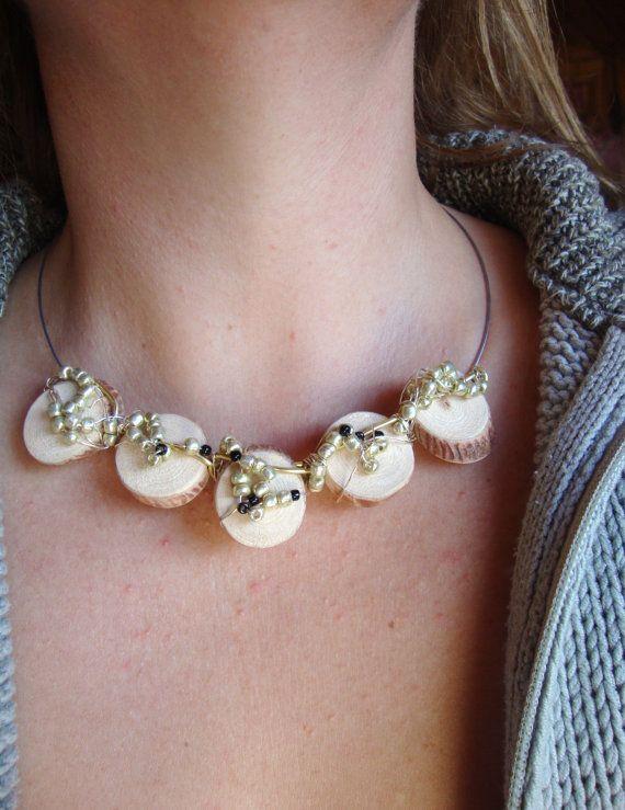 Collana di perline in legno di BoisetRois su Etsy