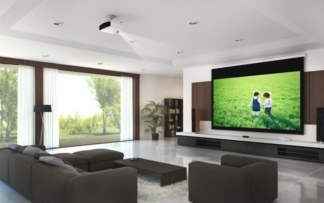 beamer leinwand wohnzimmer google suche home cinema 3rd pinterest beamer leinwand. Black Bedroom Furniture Sets. Home Design Ideas
