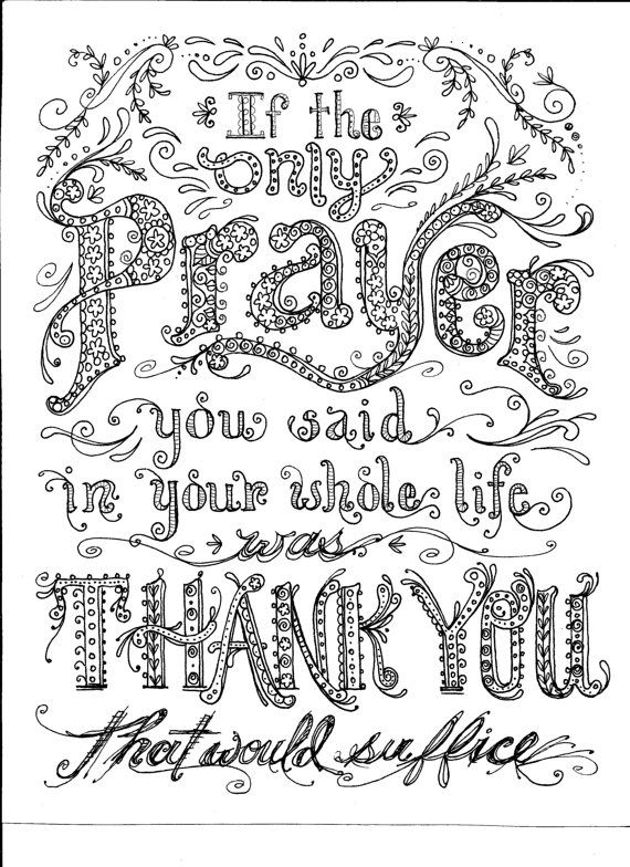 INSTANT DOWNLOAD PRAYER Coloring Page Crafting Page Scrapbooking ...