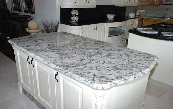 White Ice Granite Granite Kitchen Island White Granite Kitchen