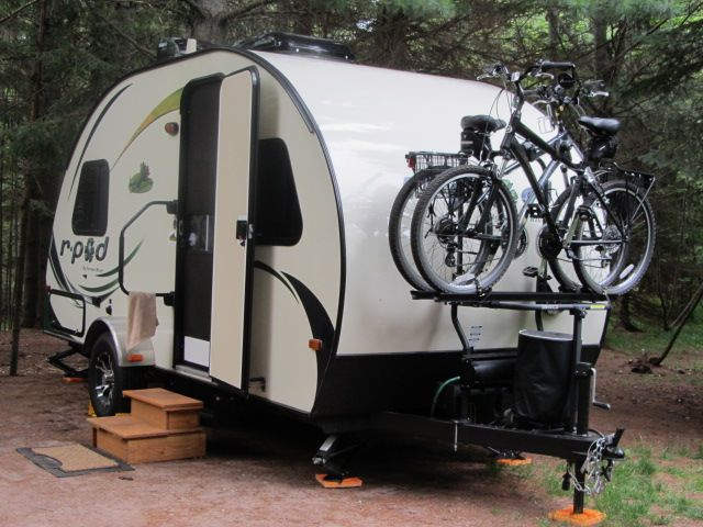 Tongue Mount Bike Rack With Images Pod Camper R Pod Travel