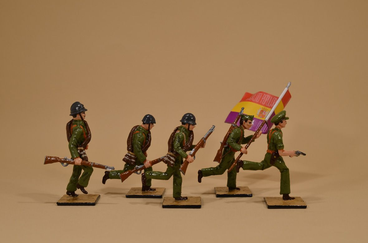 Vintage lead Toy and Model Soldiers: Milicianos 1936-39 ALYMER