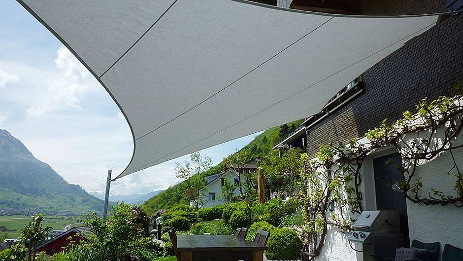 Sonnensegel für Terrasse, Balkon oder Garten Luzern