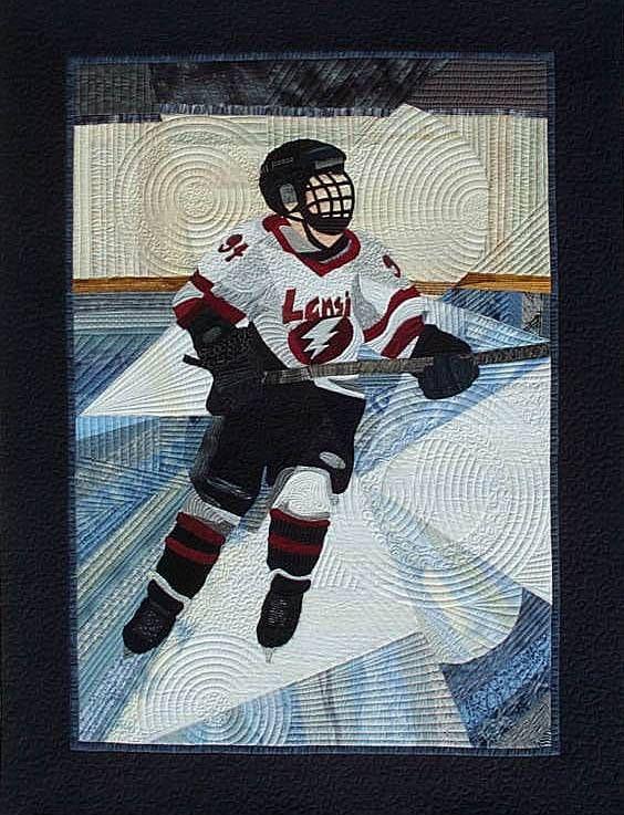 Hockey quilt by Kari Smith-Ruedisale at O Sew Fine custom quilting ... : hockey quilt patterns - Adamdwight.com