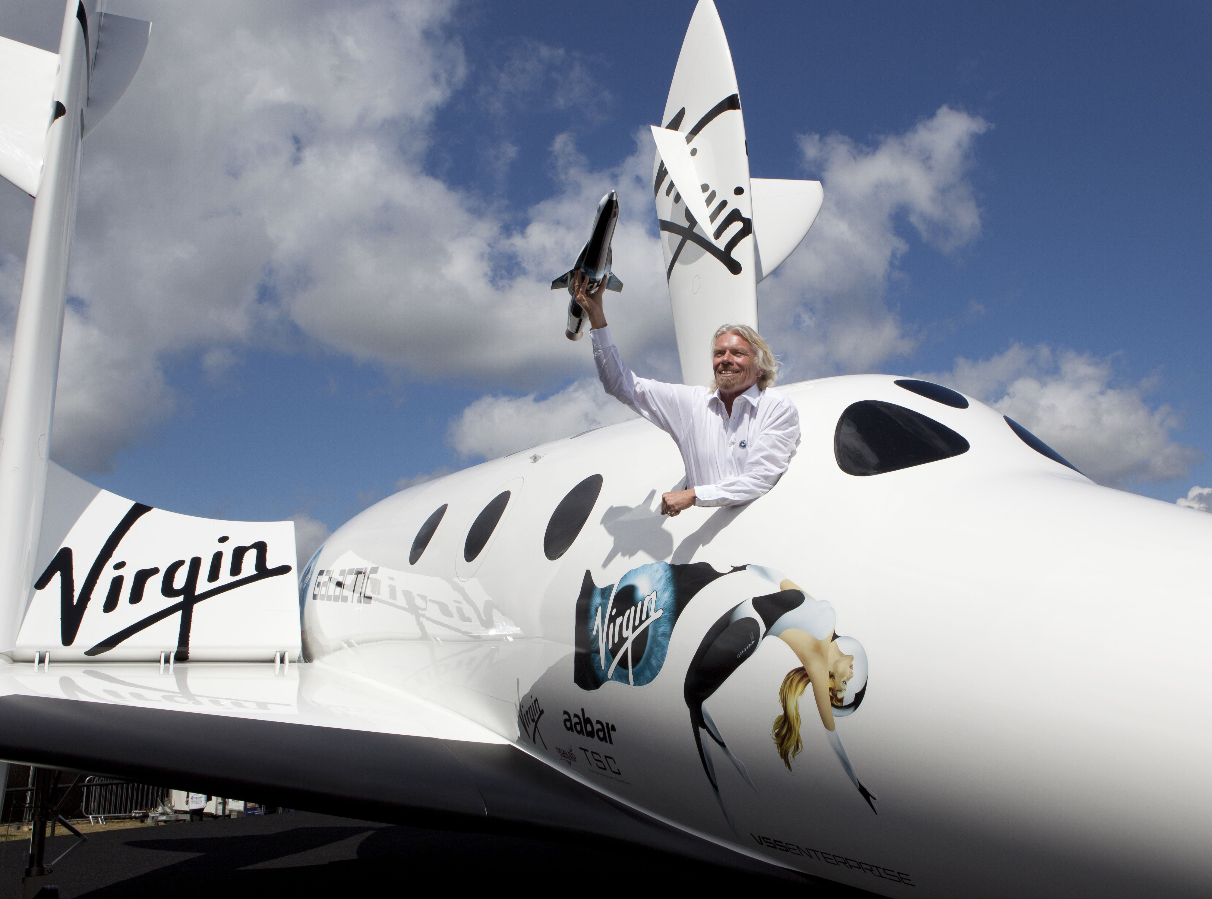 Sir Richard Branson Introduces Launcherone To The World Photo By