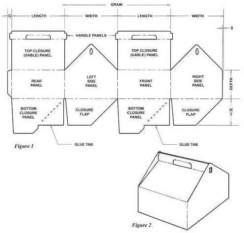 Gable Top With Auto Bottom Good For A House Box Template Handmade Box Custom Paper